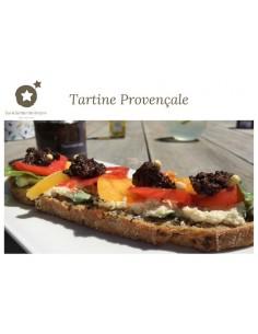 "Postcard ""Provençal tartine"""