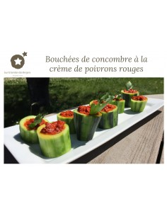 Cucumber Bites with Red...